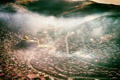 Kina Seda buddistiskt institut Arkivbild