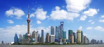 Kina shanghai panorama arkivfoton