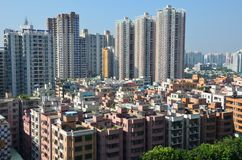 Kina Shenzhen stad Arkivbild
