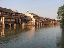 Kina sista hus för kuddevatten - Wuzhen Arkivfoto