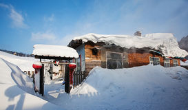 Kina snowtown Royaltyfri Fotografi