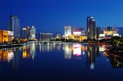 Kina stad av Ningbo Arkivbilder