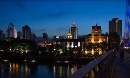 Kina stad av Ningbo Arkivbild