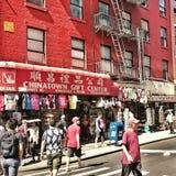 Kina stad i NYC Arkivbild