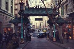 Kina stad i San Francisco royaltyfri fotografi
