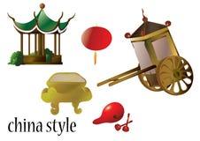 Kina stil Arkivbild