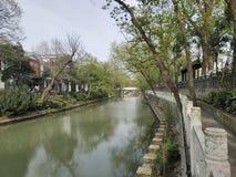 Kina Street View för Guangxi Beihai flod arkivbilder