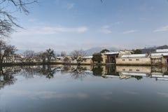 Kina sydliga anhui lokal-utformar boningshus Royaltyfri Fotografi