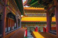 Kina tempel arkivbild