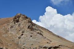 Kina Tibet Himalayas i området av sjön Teri Tashi Nam Co i sommar fotografering för bildbyråer