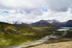 Kina Tibet landskap Arkivbilder