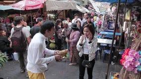 Kina Town i Bangkok stock video