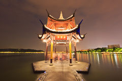 Kina traditionell arkitekturpaviljong Arkivbild