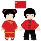 Kina traditionell dräkt Arkivbilder