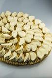 Kina traditionell mat -- Kokta klimpar Arkivfoto