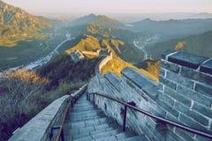 Kina vägg i Pekin royaltyfri bild