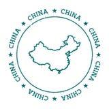 Kina vektoröversikt Royaltyfria Bilder