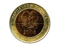 2 KINA 35 Verjaardag van de Bank van Papoea-Nieuw-Guinea Omgekeerde Royalty-vrije Stock Fotografie