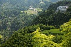 Kina Wenzhou landskap - berglandskap Royaltyfria Bilder
