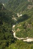 Kina Wenzhou landskap - scenisk NanXiJiang flod Royaltyfri Bild
