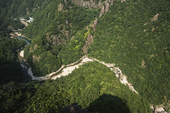 Kina Wenzhou landskap - scenisk NanXiJiang flod Royaltyfria Bilder