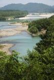 Kina Wenzhou landskap - scenisk NanXiJiang flod Arkivfoton