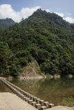 Kina Wenzhou landskap - scenisk NanXiJiang flod Royaltyfri Foto