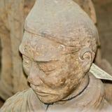 Kina XI ` Leradiagram av krigare, hästar och triumfvagnar Arkivbild