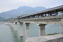 Kina Yangtze River Three Gorges scenisk extrakt Arkivbild