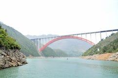 Kina Yangtze River Three Gorges scenisk extrakt Royaltyfria Foton