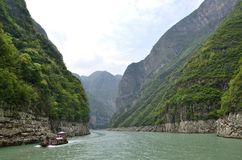 Kina Yangtze River Three Gorges scenisk extrakt Arkivbilder