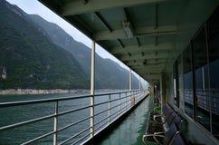 Kina Yangtze River Three Gorges scenisk extrakt Arkivfoton