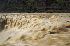 Kina Yellow River Hugo Waterfall, royaltyfri foto
