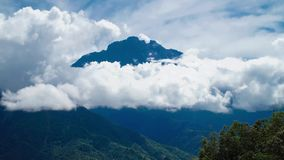 Kinabalu-Berg Timelapse stock footage
