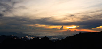Kinabalu Summit Sunset Royalty Free Stock Photos