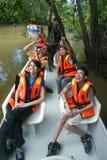 Kinabatangan flodSafari Royaltyfria Foton