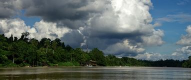 Kinabatangan River. The Kinabatangan River Malay: Sungai Kinabatangan is a river in Sabah, Malaysia. It is the second longest river in Malaysia,[1] with a length Royalty Free Stock Photography