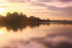 Kinabatangan river, Malaysia Stock Photo
