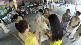 Money fund raising in wedding tradition guest pinning money
