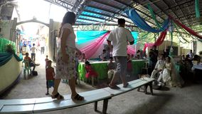 Money fund raising in wedding tradition bench dancing