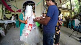 Money fund raising in wedding tradition pinning money