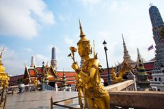 Kinaree, a mythology figure in the Grand Palace Royalty Free Stock Photo