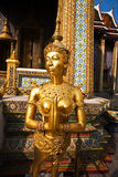 Kinaree, a mythology figure in the Grand Palace Stock Photos
