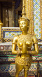 Kinaree, a mythology figure, in the Grand Palace in Bangkok Royalty Free Stock Photography