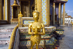 Kinaree, a mythology figure, in the Grand Palace in Bangkok Royalty Free Stock Photos