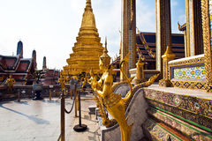 A kinaree, a mythology figure, in the Grand Palace in Bangkok Stock Images