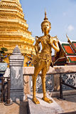 Kinaree, a mythology figure, is watching the temple in the Gra Stock Image
