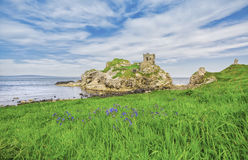 Kinbane castle royalty free stock photos
