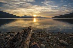 Kinbasket Lake, Canoe Reach, near Valemount, British Columbia. In the Robson Valley region of North Thompson Royalty Free Stock Image