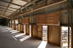 Kinchega Wool shed. Kinchega Wool shed, interior, dates back to Stock Images